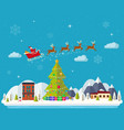 winter landscape happy new year vector image
