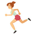 woman running or jogging sport healthy lifestyle vector image