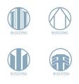 Building Logo set vector image