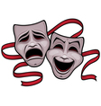 comedy and tragedy theater masks vector image