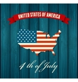 American Independence Day Flat design vector image