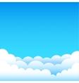 cartoon blue sky vector image