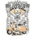 classic vintage motorcycle vector image