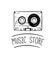 audio cassette tape icon music store logo vector image