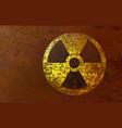radioactive hazard sign vector image