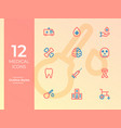 12 medical icons medical symbol simple outline vector image vector image