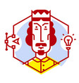 a designer icon in a flat style icon isolated on vector image