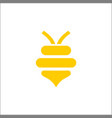 abstract bee and honey logo symbols vector image vector image