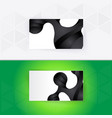 abstract blank name card template for business vector image