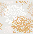 abstract chrysanthemum flowers seamless pattern vector image