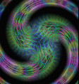 Abstract shiny colorful fractal spiral background vector image vector image