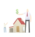 agent increases the rate of credit for real estate vector image vector image