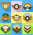 airborne logo set flat style