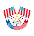 american flag with ribbon decoration design vector image vector image
