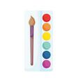 back to school paintbrush color palette artistic vector image