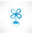 blue blower grunge icon vector image
