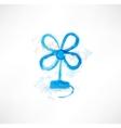 Blue blower grunge icon