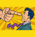 boss threatens finger to businessman vector image vector image