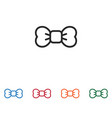 bow tie icon vector image vector image