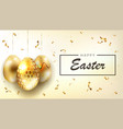 bright easter composition with glitter golden eggs vector image vector image