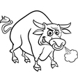 bull farm animal coloring page vector image