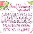 Calligraphic english alphabet with decorations vector image vector image