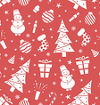 Christmas night pattern vector image vector image