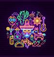 cinco de mayo neon concept vector image vector image