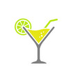 cocktail glass icon isolated white vector image