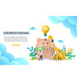 crowdfunding concept web banner design vector image