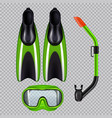 diving set realistic transparent vector image vector image