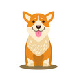 dog icon with tongue stuck out vector image