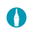 drinks wine bottle alcohol with cork blue block vector image vector image