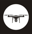 drone icon in circle copter with camera aerial vector image vector image