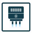 Electric meter icon vector image vector image