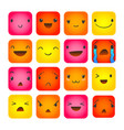 emoticon square doodle 8 vector image