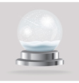 Empty Transparent Christmas Crystal Ball vector image