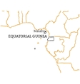 Equatorial Guinea hand-drawn sketch map vector image