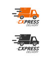 express delivery icon concept pickup service vector image vector image