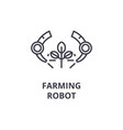farming robot line icon outline sign linear vector image vector image