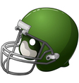 Green Football Helmet vector image vector image