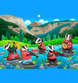 group of funny badgers are playing music vector image vector image
