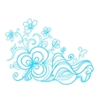 Hand drawn floral doodle vector image