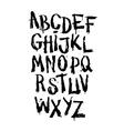 Hand drawn grunge font alphabet vector image vector image