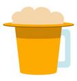 hat shaped beer mug icon vector image vector image