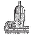 hydraulic ram vintage vector image vector image