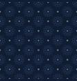 indigo blue christmas floral seamless vector image vector image
