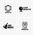 last minute symbols vector image