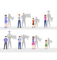 leadership flat happy people vector image vector image