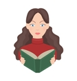 Librarian icon in cartoon style isolated on white vector image
